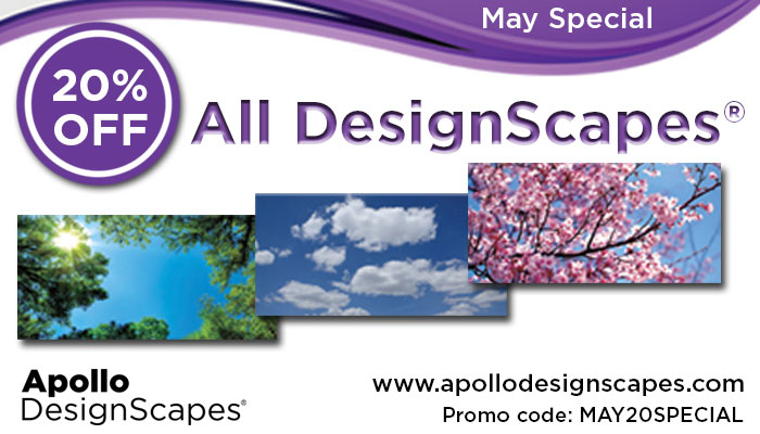 20% off all Apollo DesignScapes® with Promo Code:MAY20SPECIAL