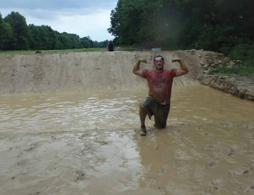 Chris Robison competed recently in a Spartan Race.