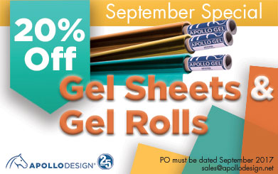 September Special 20% Off Gel Sheets and Rolls