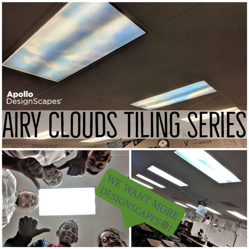 Graphic That has Airy Clouds Tiling Series and Children quoted as saying we want more designscapes.