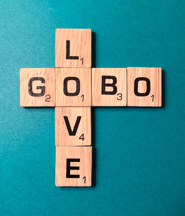 Gobo Love Scrabble Letter Blocks