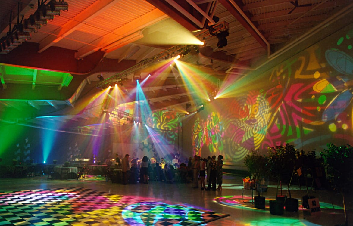 Goodwin Lighting Disco Themed Event