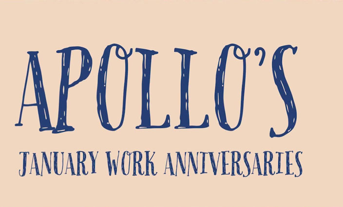 Apollo January Work Anniversaries