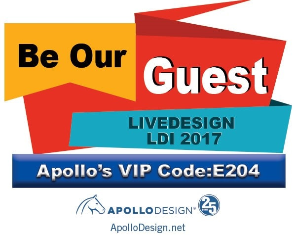 Be Our Guest At Live Design International In Las Vegas.