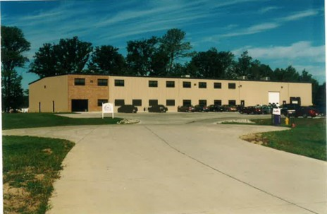 The newly constructed building at 4130 Fourier Drive