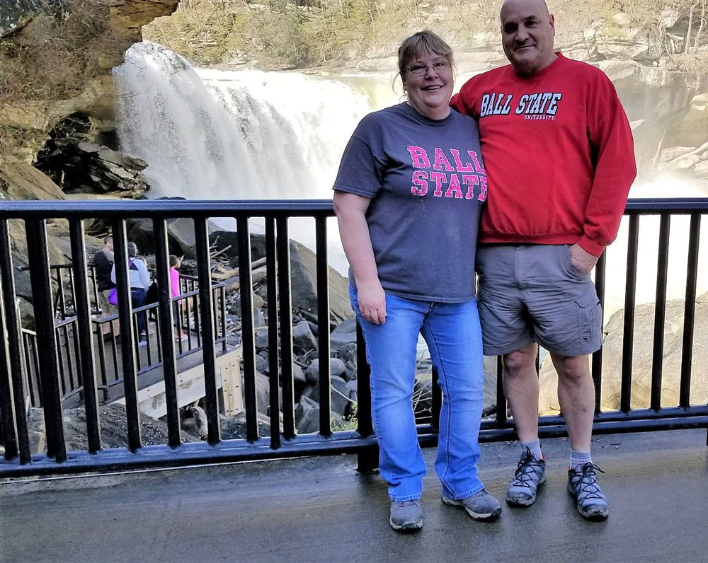 Husband and wife, Bill and Mary Harrison, celebrate work anniversaries at Apollo this month.