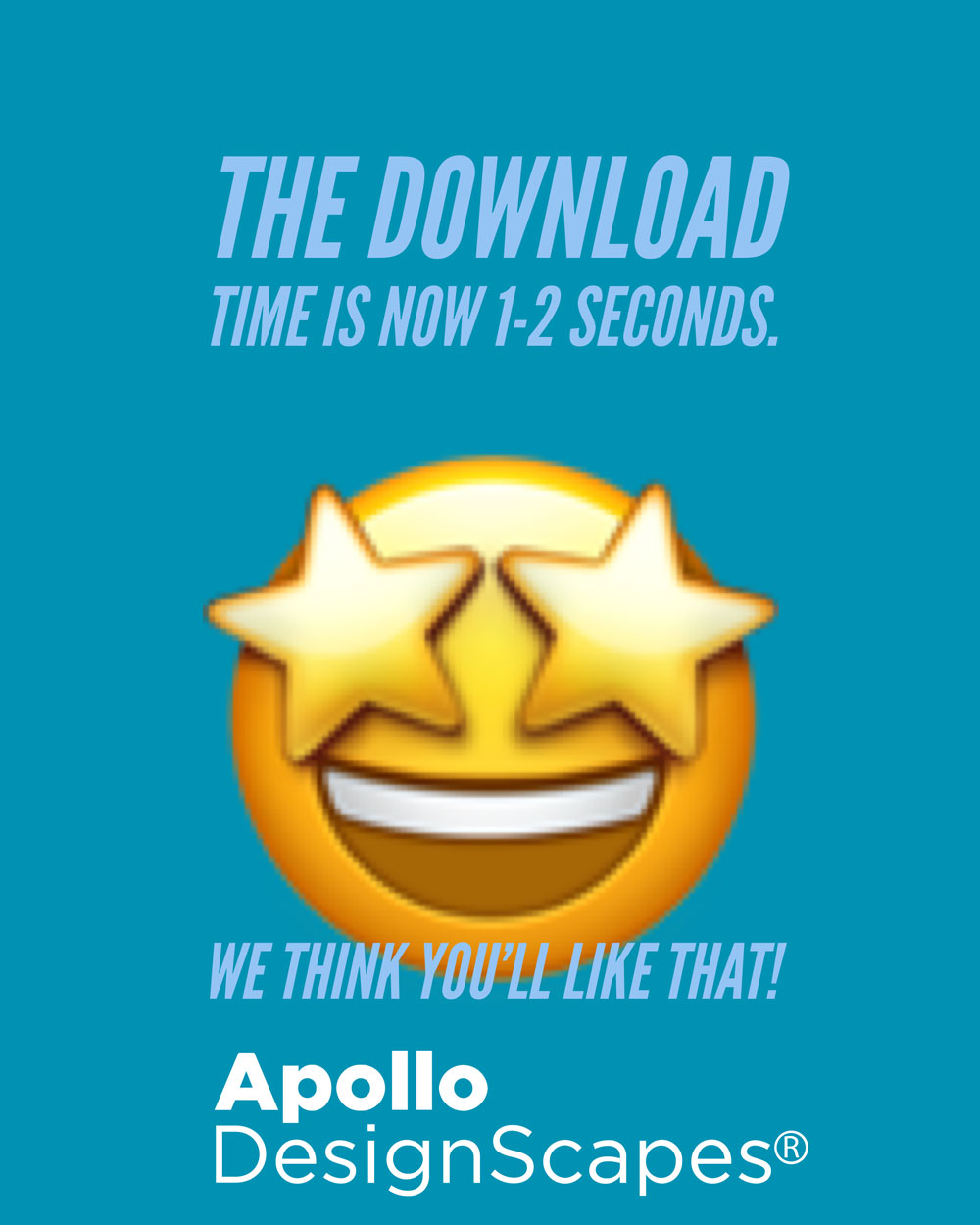 Download Time is now 1-2 seconds.