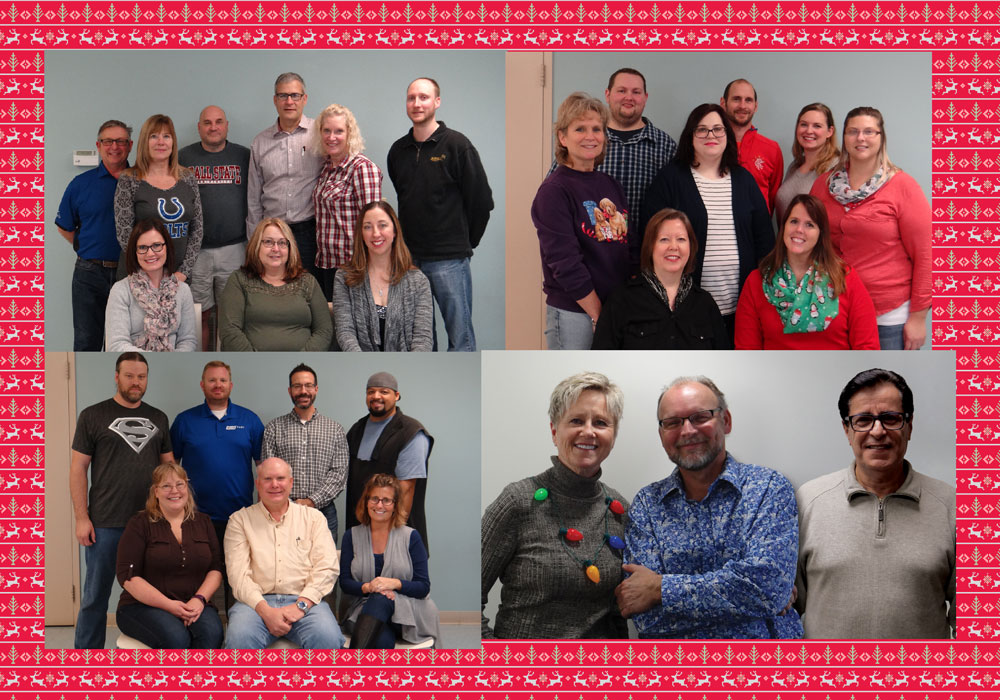 Collage of all employees who have been here over 10 years.