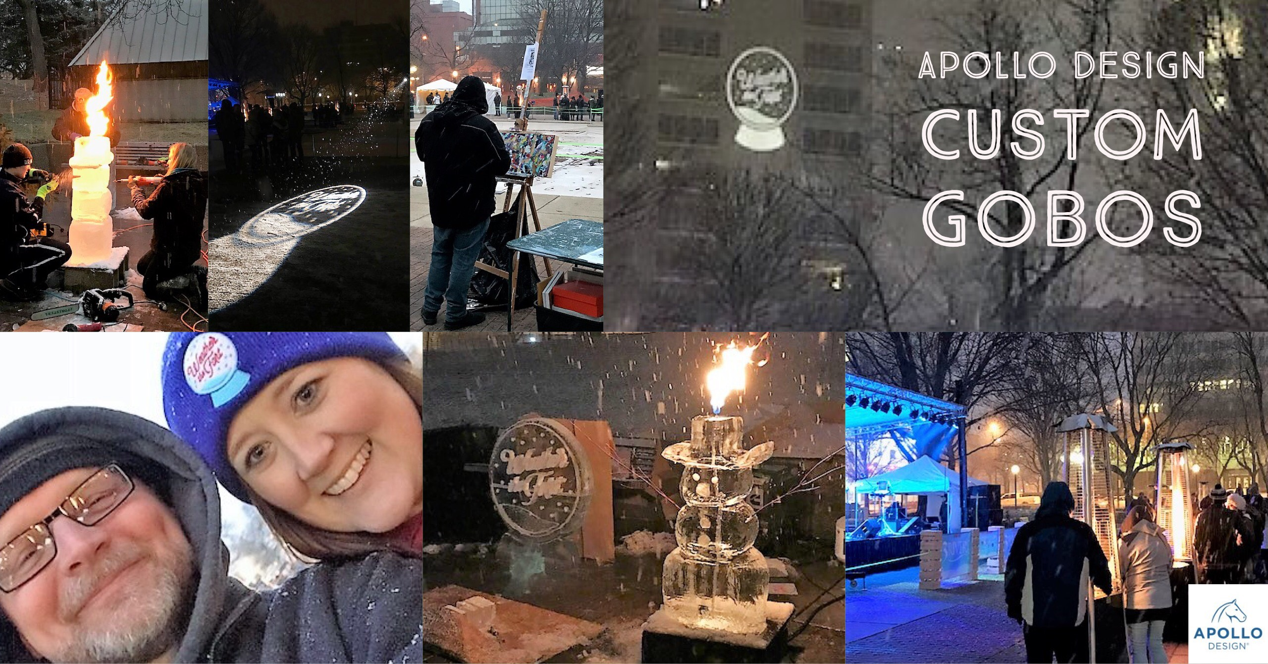 Collage of images Taken At Weather the Fort Winter Festival
