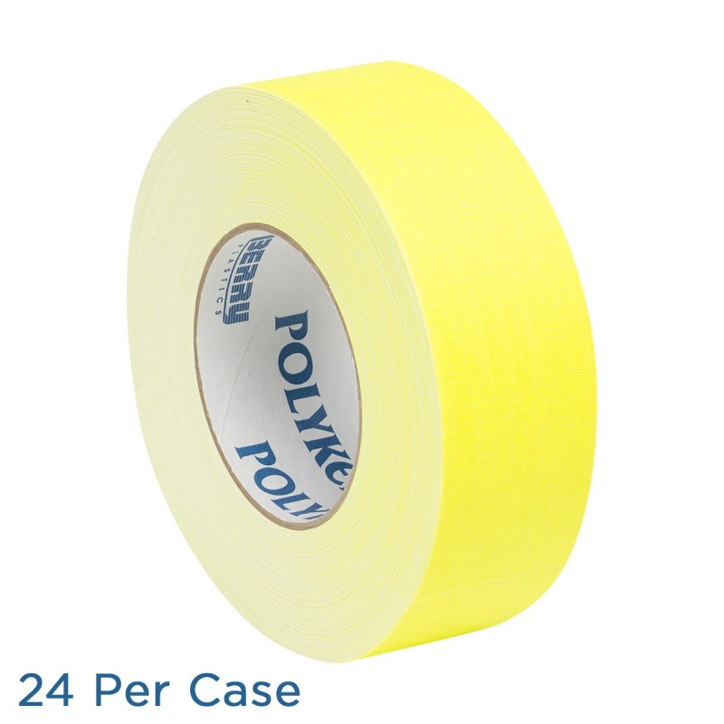 "Gaffer Tape - 2"" - Neon Yellow - 24 per Case"