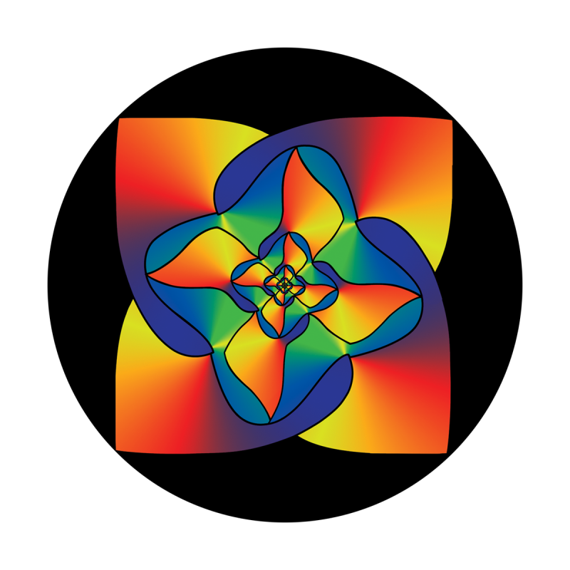 Colorful Square Flower
