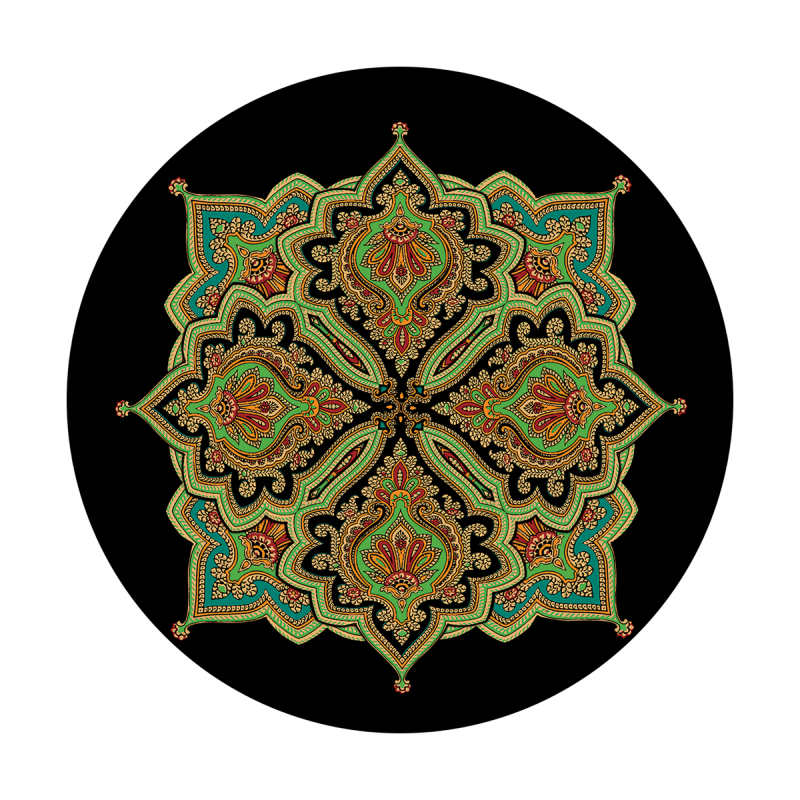 Intricate Indian Tile