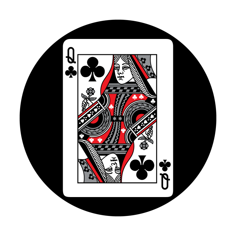 Red Card - Queen of Clubs