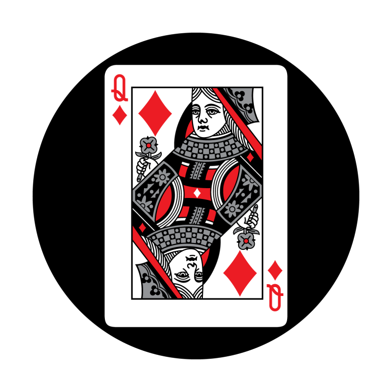 Red Card - Queen of Diamonds