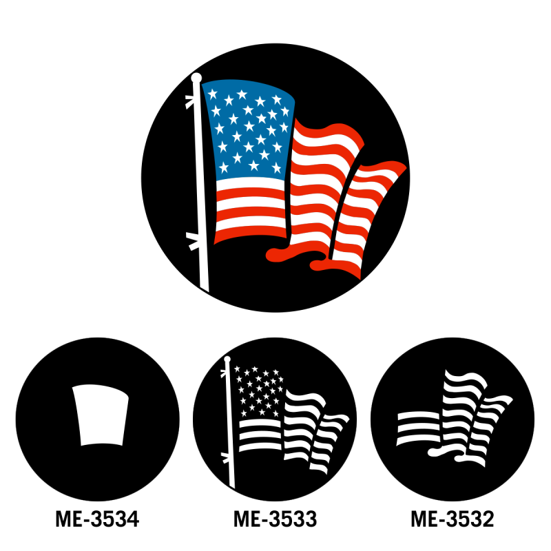 American Flag Gobos Combined
