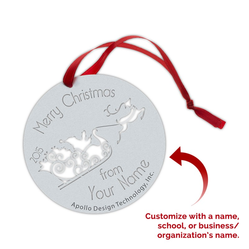 Customized Gobo Ornaments - Santa Sleigh