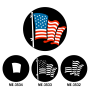 American Flag - White (Pair with ME-3532 and ME-3534)