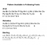Pattern Available in Additional Fonts