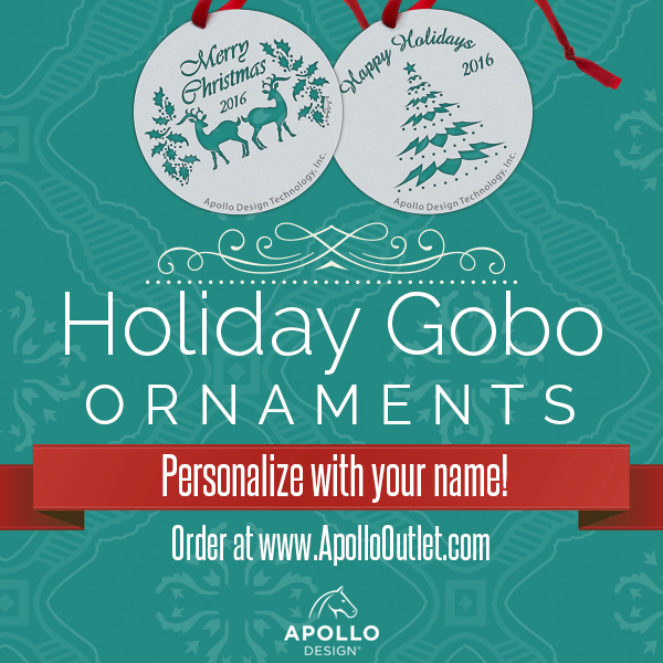 Holiday Gobo Ornaments