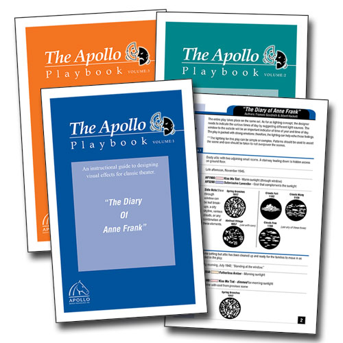 Apollo Playbooks for use by lighting designers of all experience levels as either a stand-alone color and gobo set or a starting point for the lighting of productions.